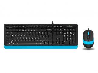 A4-Tech F1010 Mavi USB Klavye Mouse Set - MM